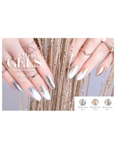 Metal Gel No.3 White Gold - SPN Nails